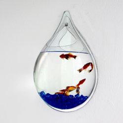 Serbatoio di pesci acrilico creativo della parete di goccia dell'acqua di nuovo stile