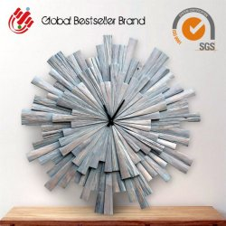 Высокое качество стены искусство деревянной стенки часы для интерьера (LH-M170703)