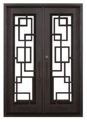 Aço moderno Design Grill entrada principal porta de ferro forjado preço de fábrica