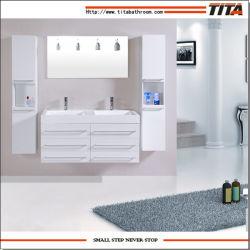 ヨーロッパ規格MDFのボードの壁は樹脂の洗面器が付いているメラミン浴室用キャビネットをハングさせた