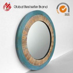 Precio mayorista Decoracion espejo de pared arte en madera (LH-M170845)