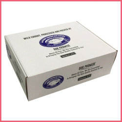 Contenitore impaccante congelato alta bistecca di scatola dell'imballaggio dei pesci del montone del manzo del porco del pollo della carne del gambero dei frutti di mare del documento ondulato di stampa di Flexo di definizione di colori di abitudine 5