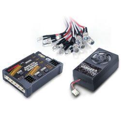 Gli indicatori luminosi dei suoni dell'automobile di versione RC di Bluetooth di potere del G.T hanno simulato il sistema per le parti dell'automobile di RC