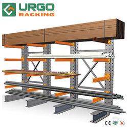 Depósito de madeira pesada prateleira cantílever de armazenamento para o sistema de racks estantes vergalhão