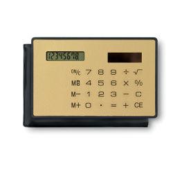 주문을 받아서 만들어진 로고를 가진 태양 8개의 손가락 신용 카드 크기 계산기