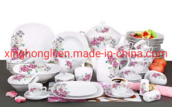 72ПК квадратных фарфора пластических масс популярных ужин Популярные дизайн Китая на заводе оптовая продажа, ужин, кухонных, посуда, хорошего качества и цены, цветы