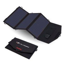 5V21W 5V14W водонепроницаемый Fordable Солнечная панель питания зарядного устройства с двумя USB стабильной солнечных батарей для iPhone Android