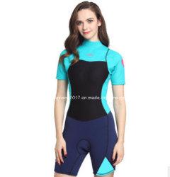 Short Sleeve en néoprène 2mm combinaison de plongée Surf Wetsuit pour les femmes