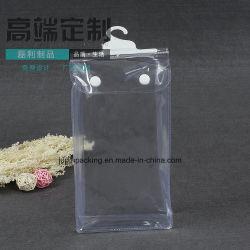 Дружественность к окружающей среде прозрачный РР водонепроницаемый кнопку пластиковой упаковки пакет с крюком (jp пластиковый005)