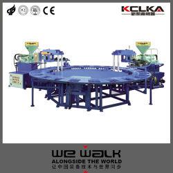 قالب حقن Kclka بمادة PVC مزدوجة الألوان التلقائية بالكامل الماكينة