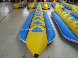 Venta caliente 8 personas 23 pies 7m Fila bote banana inflable con Orca Hypalon Material PVC impotente Draggy Barco Barco ocio sin energía para la venta