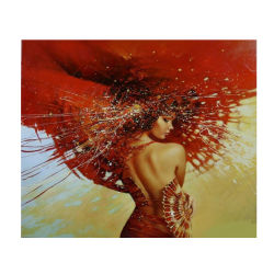 Fishion Girl 5D Ecoのキャンバスの裸のセクシーな女性ダイヤモンドの絵画DIYモザイク絵画水晶