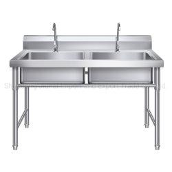 En acier inoxydable poli de haute qualité évier de cuisine du restaurant