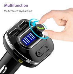 Transmisor FM Bluetooth Wireless en el coche Radio Transmisor Adaptador con Hand-Free llamando y 2 USB Cargador de coche