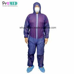 Vestiti non tessuti di sicurezza a gettare protettiva del prodotto, vestiti a gettare,
