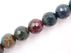 Commerce de gros rond semi précieuses 4-12mm Perles à facettes en pierre de sang