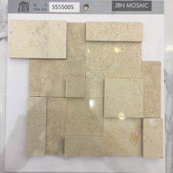 Mosaico del marmo del granito di Crema Marfil del materiale da costruzione della decorazione di modo