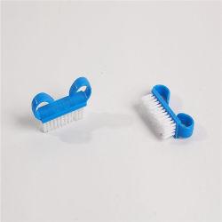 Прочный пластиковый руки гвоздь поверхностей щеткой лак для ногтей чистящей щетки