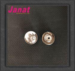 20mm de aleación de metal contra chapado plata botón con el color de DTM