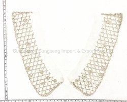 Mode accessoires de vêtements, Hand-Beaded colliers de perles brodées, de la machine l'encolure, d'argent, utilisé pour la mode des vêtements, peuvent être personnalisés