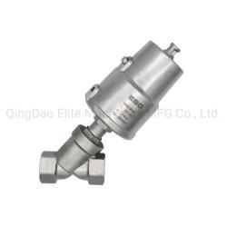 CF8/CF8 م مكبس من الفولاذ المقاوم للصدأ يعمل بالهواء المضغوط/صمام المقعد ذو الزاوية للهواء/الماء/الزيت/الأحماض/البخار/التحكم