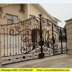 Tubo de ferro ferro forjado decorativo design da tampa de porta