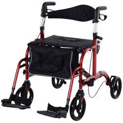 Andador Rollator multifuncional de aleación de aluminio con bolsa de almacenamiento para ancianos