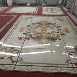China Leverancier Customized Flower Pattern water Jet Marble Medallion Flooring