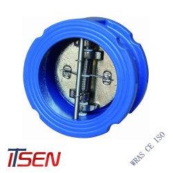 DIN / ANSI Cast Iron / Fer ductile double plaque double à bride Wafer le clapet antiretour