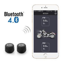 APP van de Telefoon van het ControleSysteem TPMS van de Druk van de Band van Bluetooth van de motorfiets Mobiele Opsporing Bluetooth TPMS voor Motorfietsen