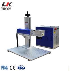プラスチックのロゴの印刷の番号付けのための携帯用小型金属のファイバーレーザーのマーキングの彫版のエッチングYAG機械