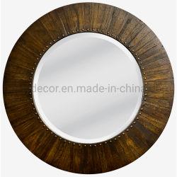 تصميم جديد إطار خشبى دائري ريفى مع قطع معدنية