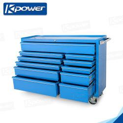 カスタムガレージのステンレス鋼の道具箱のカートの手のツールが付いている多機能のツールのカートのトロリー