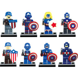 Plastica degli eroi eccellenti del giocattolo la mini ostruisce i Figurines umani di meraviglia (10312282)