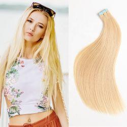 人間の毛髪のまっすぐなRemyのクチクラの人間の毛髪の拡張の100%のヨーロッパテープ