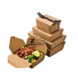 Caixa pequena refeição alimentar papel Kraft descartáveis carton board Almoço Burger Box tornar máquina de formação do produto