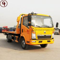 HOWO Cama plana de 4X2 veículo de reboque de plataforma de recuperação de Scanner de veículo de transporte de carga
