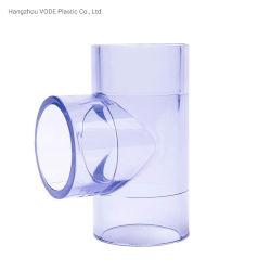 Raccordo a T trasparente in plastica UPVC con raccordo standard DIN