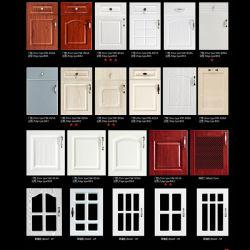 Американский стиль ПВХ MDF деревянные кухонные двери распределительного шкафа (FY061)