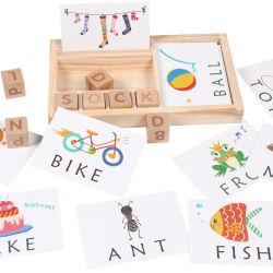 Деревянные буквы слова учебные блоки игрушкой по вопросам образования обучение головоломки игрушки для детей Детский мальчиков девочек с ящика для хранения карт Word