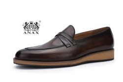 Новый дизайн и высокое качество популярных мужчин пробуксовки колес на кожаных бизнес удобные повседневная обувь