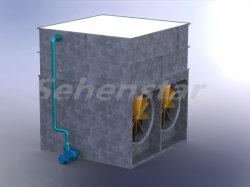 Todo tipo de placa soldada condensador evaporativo del aire acondicionado en hoteles, tiendas, zonas residenciales