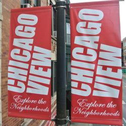 Наружная реклама освещения улиц полюса флаг плакат (BS70)