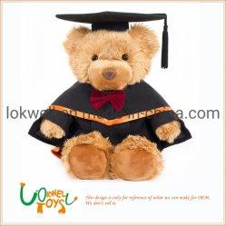Ours en peluche en peluche de l'éducation de la trancheuse d'usure Pac robe académique