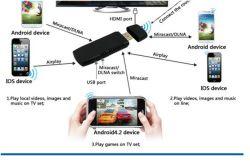 Companheiro Smartphone Aircast WiFi para comunicações sem fio com HDTV pela Norma Miracast Airplay DLNA