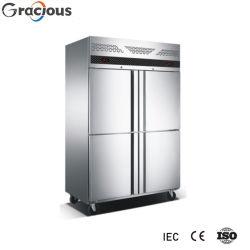 Handelsküche-aufrechter Gefriermaschine-Edelstahl-Kühlraum für Gaststätte