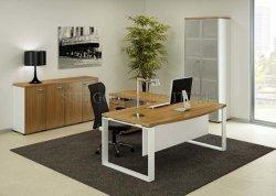 Hot Popular Boss bureau de melamine Panneau de tiroir avec tablette en acier blanc Offce bureau (SZ-OD301)