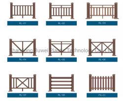 Prodotti WPC anti-UV colonna Co-estrusi Legname quadrato per esterni Scenic Parapetto marittimo /corrimano /corrimano stair /parapetto ponte