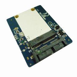 SATA micro de Msata al mini SATA adaptador del SSD