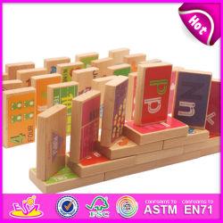 2014 Nova Imaginação Jogo Domino de madeira para as crianças, de madeira coloridos Domino brinquedo para crianças, jogue dominó de madeira brinquedo para o bebé W15A007